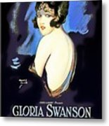Gloria Swanson In Her Husband's Trademark 1922 Metal Print