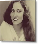 Gloria Swanson, Vintage Actress Metal Print