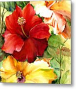 Glorious Hibiscus Metal Print