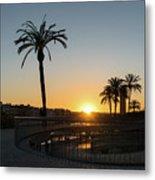 Glorious Sevillian Sunset With Palms Metal Print