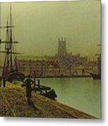 Gloucester Docks Metal Print by John Atkinson Grimshaw
