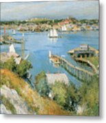 Gloucester Harbor Art Print By Willard Leroy Metcalf