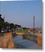Gloucester Waterfront Gloucester Harbor Metal Print