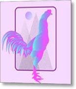 Glow Chicken Metal Print
