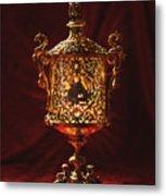 Glowing Antique Lantern Metal Print