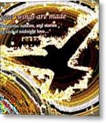 Glowing Bird Of Midnight Love Metal Print