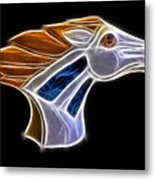 Glowing Bronco Metal Print