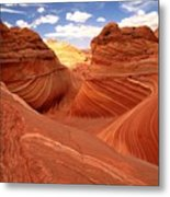 Glowing Butte At The Wave Metal Print