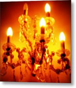 Glowing Chandelier Metal Print