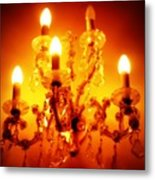 Glowing Chandelier--companion Piece Metal Print