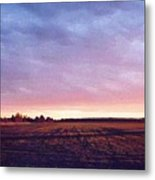 Glowing Field At Sunset Pd Metal Print