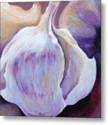 Glowing Garlic Metal Print