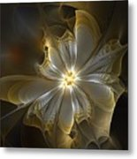 Glowing In Silver And Gold Metal Print