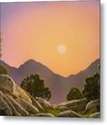 Glowing Landscape Metal Print