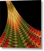 Glowing Leaf Of Autumn Abstract Metal Print