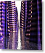 Glowing Lights Of An Electric Canyon Metal Print