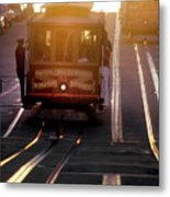 Glowing Magical Cable Cars On Nob Hill Metal Print
