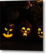 Glowing Pumpkins Metal Print