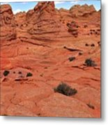 Glowing Sand In The Buttes Metal Print
