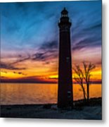 Glowing Sky At Little Sable Metal Print