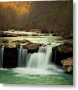 Glowing Waterfalls Metal Print by Iris Greenwell