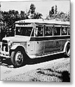 Gm's First Bus Line Metal Print
