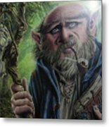 Gnome Wizard Metal Print