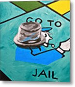 Go To Jail  Metal Print