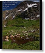 Go Up To The Mountain Of The Lord Metal Print