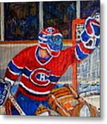 Goalie Makes The Save Stanley Cup Playoffs Metal Print