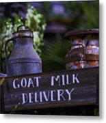 Goat Milk Delivery Metal Print