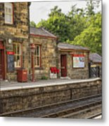 Goathland Railway Station, Train Station From Harry Potter Metal Print