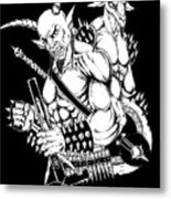 Goatlord And Baphomet Black Metal Print