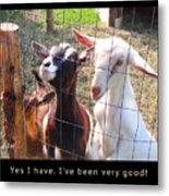 Goats Poster Metal Print