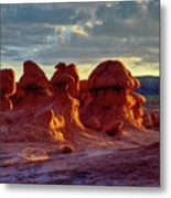 Goblins Watching Sunset Metal Print