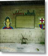 God And Futbol Metal Print
