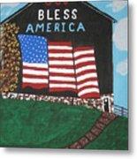 God Bless America Barn Metal Print