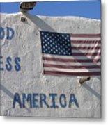 God Bless America Flag Restaurant Chandler Arizona 2005 Metal Print