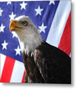 God Bless Our Heros Metal Print