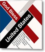 God Bless The United States Metal Print