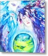 God, Goddess, Earth Ripple Effect Metal Print