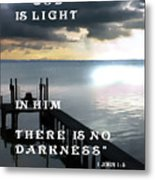 God Is Light Metal Print