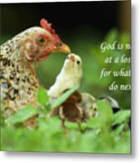 God Is Never At A Loss Metal Print