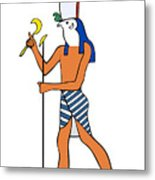 God Of Ancient Egypt - Horus Metal Print