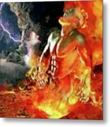 God Of Fire Metal Print