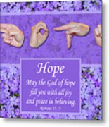 God Of Hope Metal Print