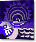 God Smiling On The Water Metal Print