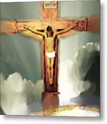 God So Loved The World Metal Print