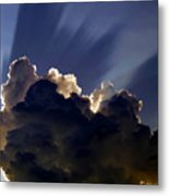 God Speaking Metal Print