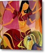 Goddess Durga Metal Print